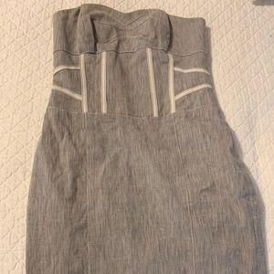 Bebe Grey Strapless dress